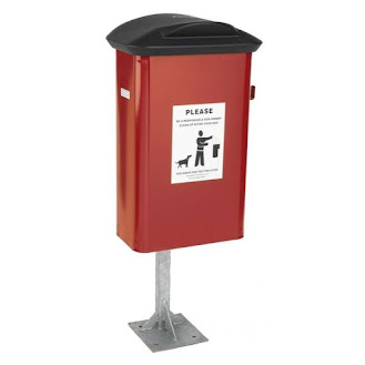 Red Dog Poo Bin