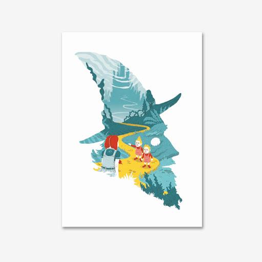 Affiche Magicien d'Oz  Galkowski A3 éditions du maïs soufflé