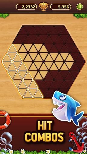 Trigon Wood: Triangle Block Puzzle screenshot 2
