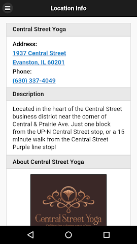 android Central Street Yoga Screenshot 1