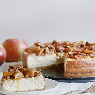 Apple Caramel Cheesecake.