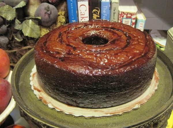 Chocolate Raspberry Pound Cake With Raspberry Glaze By Rr