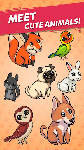 Code Triche Merge Cute Animals: Chat et Chien APK MOD screenshots 3