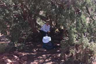 Photo: Our little lunch spot on our hike.