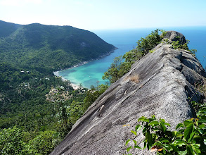 Photo: Ko Phangan - Bottle beach, viewpoint from the rock at the top, but I was affraid to walk on the ridge for last 5-10 meters to the edge, because it was at both sides quite steep, very hot, I was exhausted and one bad movement and you are dead