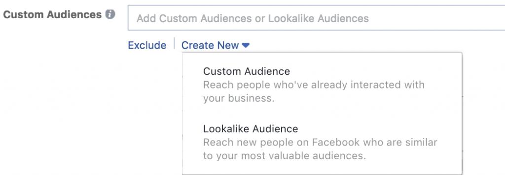 Facebook advertisement Custom Audiences