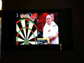 Photo: Championship televised darts. (It was in English)