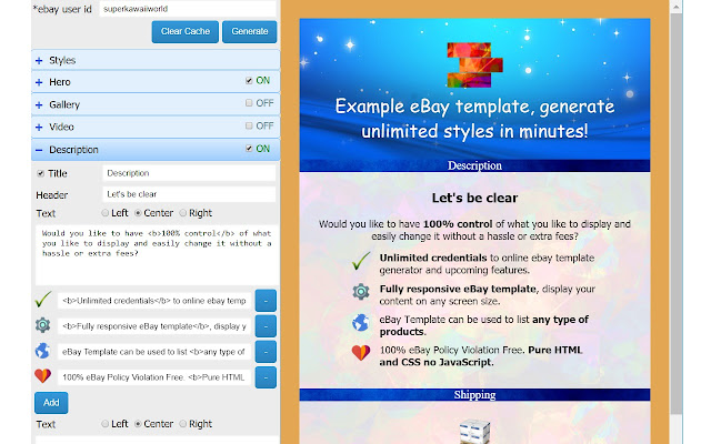 Ebay Template Generator Chrome Web Store - Ebay message templates