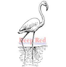Deep Red Cling Stamp 1.4X3.2 - Flamingo UTGÅENDE
