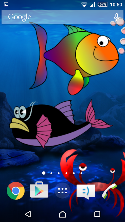 Silly Fish Live Wallpaper- screenshot