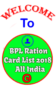 BPL Ration Card List 2018 - All India - náhled
