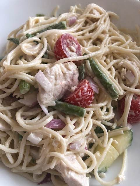 Chicken Garden Pasta Salad Recipe