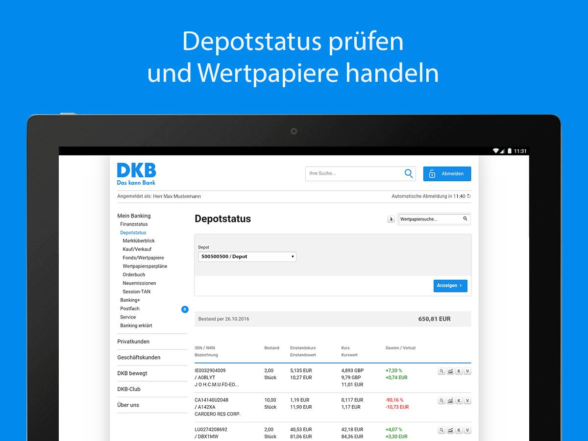 DKB-Banking – Screenshot