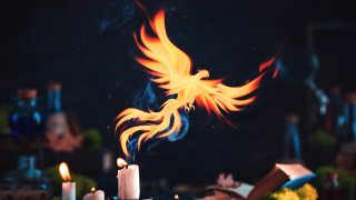 image of fire and candles