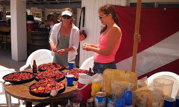 Photo: Crawfish Boil with friends at Smugglers Cove Marina