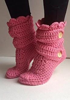 DIYのかぎ針編みの女性のスリッパのおすすめ画像3
