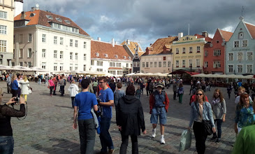 Photo: THE MAIN SQUARE IS BUSY ...... TIME TO DANCE ....