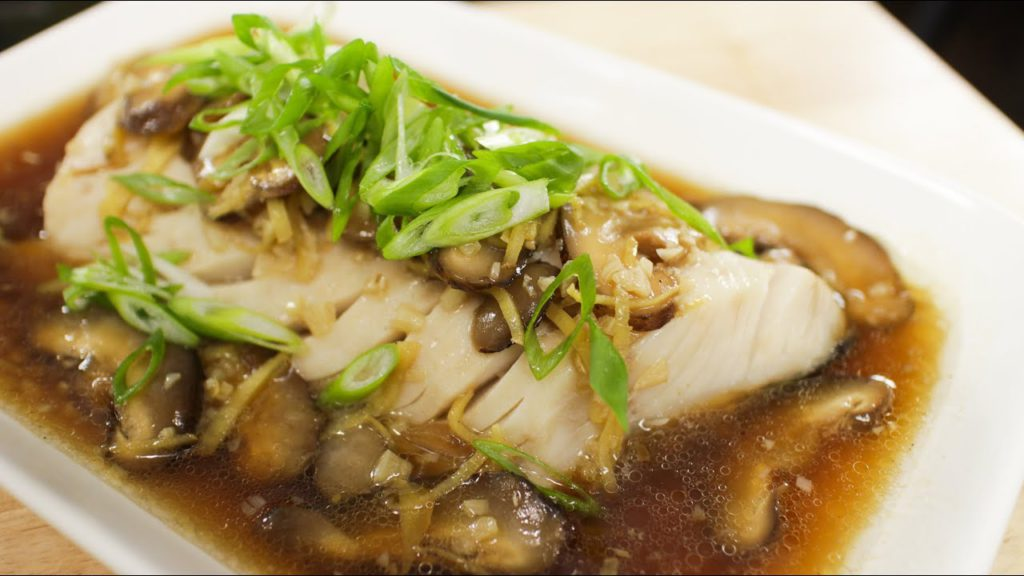 Soy and Ginger Steamed Fish