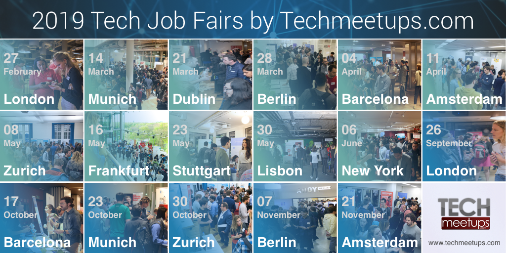 Tech Job Fairs by Techmeetups.com