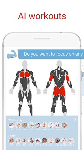 BodBot Personal Trainer:u00a0Workoutu00a0&u00a0Fitnessu00a0Coach 5.10 screenshots 1