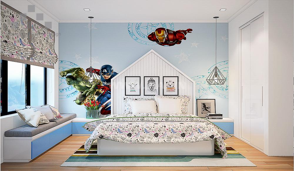 Phòng ngủ chung cư dành cho bé
