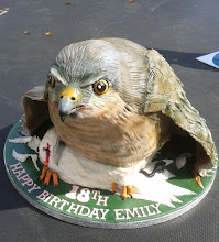Photo: Sparrowhawk Bird cake by Fancy That Cakes (4/15/2012) View cake details here: http://cakesdecor.com/cakes/12068