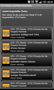Cheat-GTA.de App- screenshot thumbnail