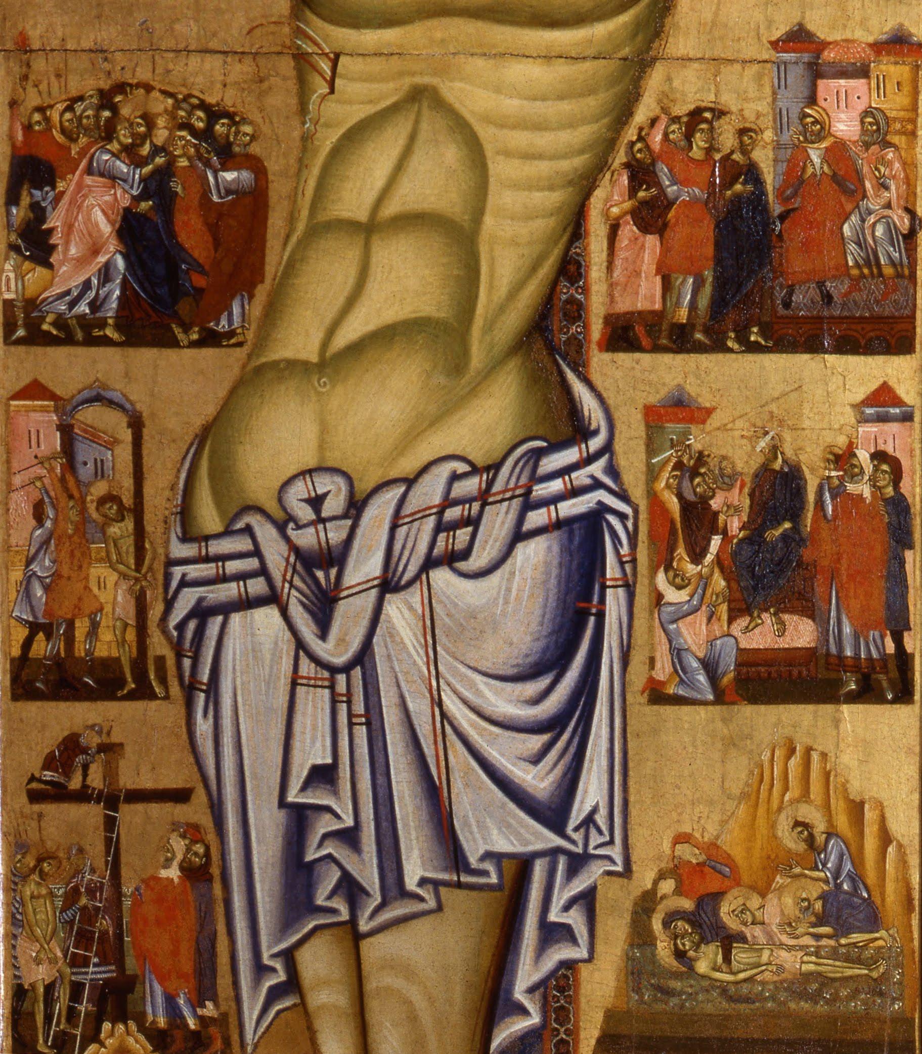 Coppo di Marcovaldo (1225–1276), Crocifissione (particolare), 1260 circa, tempera su pannello, Museo Civico di San Gimignano