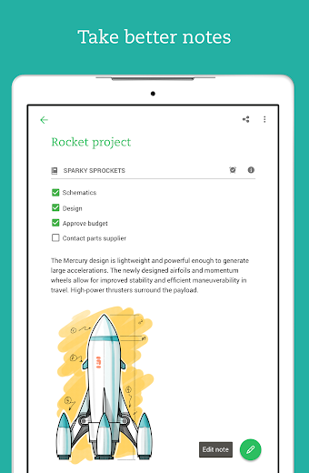 Screenshot 12 for Evernote's Android app'