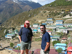 Photo: Marc and Anthony in Namche