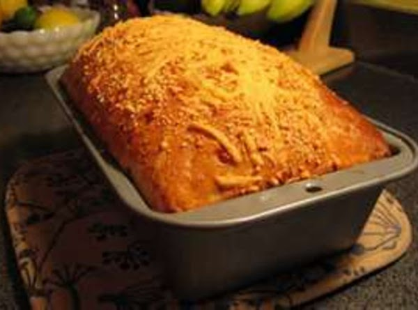 Cheesey onion bread  Mix into defrosted bread 1/3 cup sauted browned onions, cooled and 1/2...
