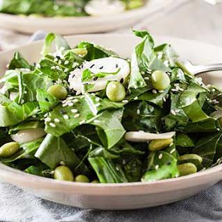 Sesame Collard Green + Turnip Salad.
