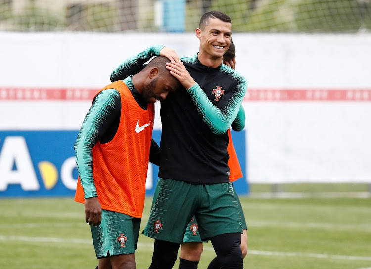 Portugal's Cristiano Ronaldo and Manuel Fernandes during training at Kratovo, Russia, June 10 2018. Picture: REUTERS