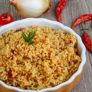 Recipe Spicy Lemon and Saffron Quinoa.