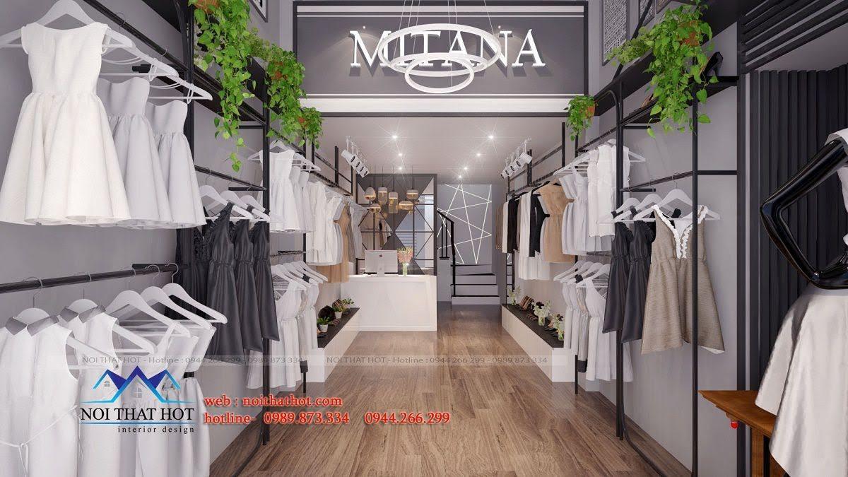 thiết kế shop thời trang nữ mitana 2