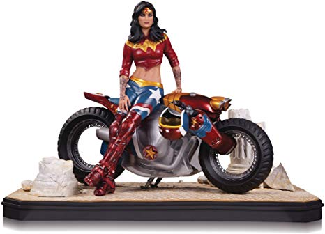 Image result for garage wonder woman statue