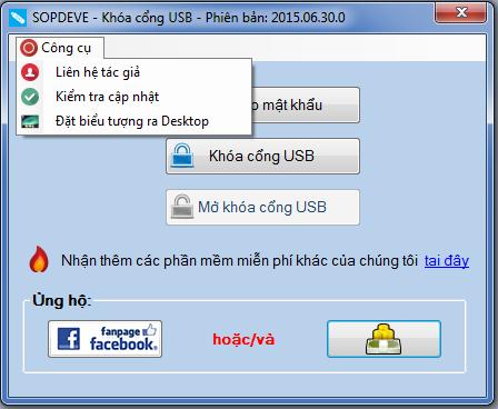 Download phần mềm khoá cổng USB SOPDEVE 2015.06.30.0