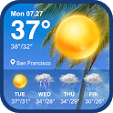 Daily weather forecast & weather report widget icon