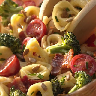 Tortellini, Broccoli and Bacon Salad.
