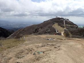 国見峠へ(左)