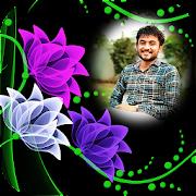 Neon Flower Photo Frame