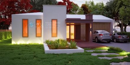 Photo: 3D Modern luxurious residential villa ARY Studios