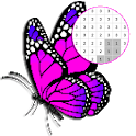 Butterfly Color By Number - Pixel Art icon