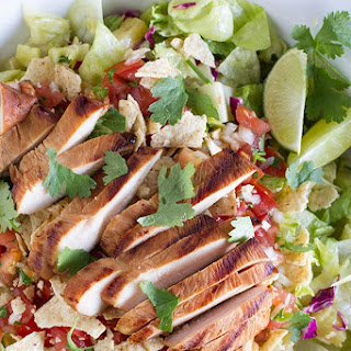 Grilled Caribbean Chicken Salad.