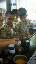 Photo: Making the mango and milk Shake!