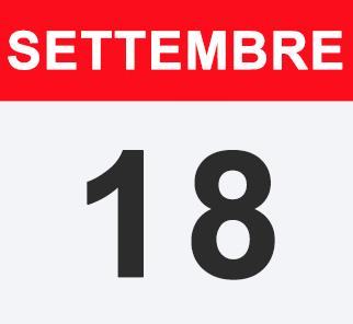 18 SETTEMBRE 2018