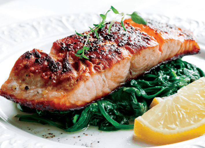 airfryer recipes - Lemon Garlic Crusted Salmon