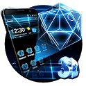 3D Hologram Hexagon Theme icon