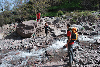 Photo: primer obstaculo en el camino al Toubkal
