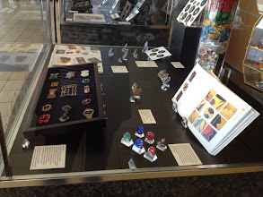 Photo: Buckles, Art Deco glass buttons, books, etc.